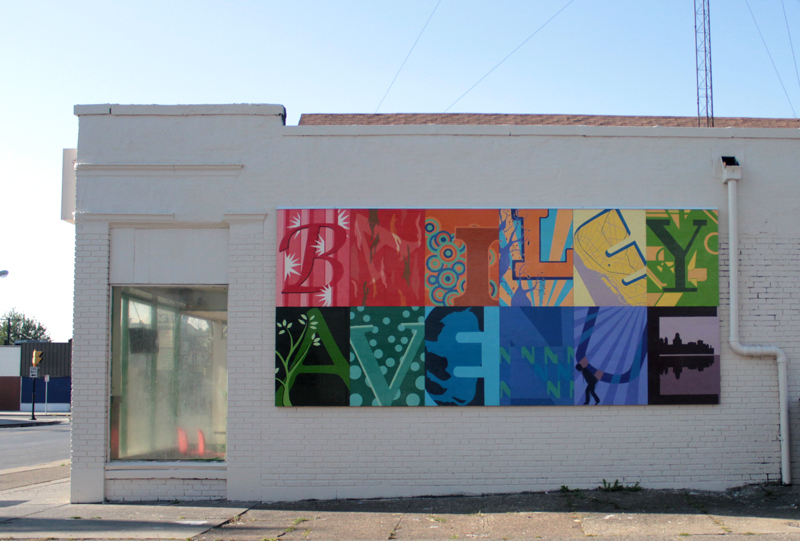 A new mural located on the side of 3162 Bailey Avenue that resulted in a partnership between the Bailey Avenue Business Association and Villa Maria College's Fine Arts Program.